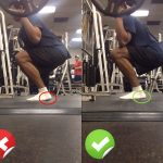 Squat form - heel, right and wrong