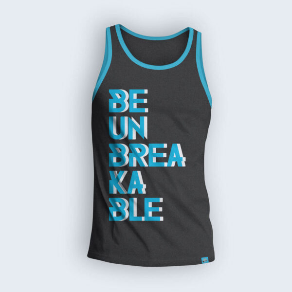 Be-Unbreakable-Charoal-Gray-Tank-Top-Front