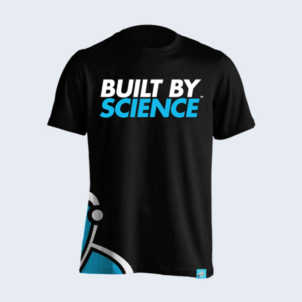 Built-By-Science-Black-Tshirt-Front