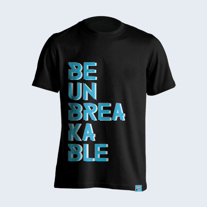 Be-Unbreakable-Black-Tshirt-Front