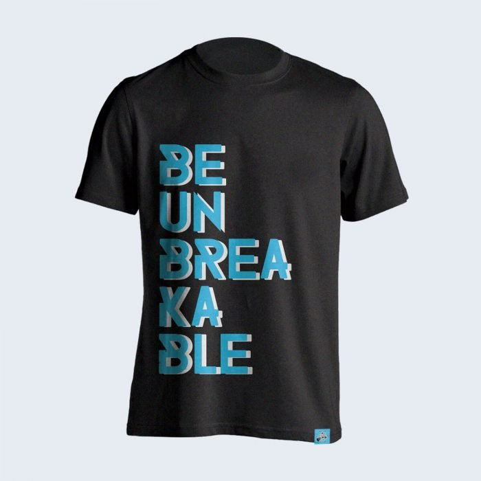 Be-Unbreakable-Charcoal-Gray-Tshirt-Front